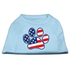Mirage Pet Products Patriotic Paw Screen Print Shirts Baby Blue XXXL(20)