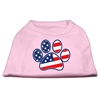 Mirage Pet Products Patriotic Paw Screen Print Shirts Light Pink XXXL(20)