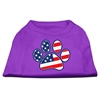 Mirage Pet Products Patriotic Paw Screen Print Shirts Purple XXXL(20)