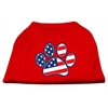 Mirage Pet Products Patriotic Paw Screen Print Shirts Red XXXL(20)