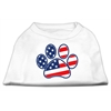 Mirage Pet Products Patriotic Paw Screen Print Shirts White XXXL(20)