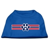 Mirage Pet Products Patriotic Star Paw Screen Print Shirts Blue XXXL (20)