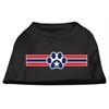 Mirage Pet Products Patriotic Star Paw Screen Print Shirts Black XXXL(20)