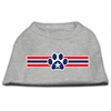 Mirage Pet Products Patriotic Star Paw Screen Print Shirts Grey XXL (18)