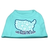 Mirage Pet Products God Bless USA Screen Print Shirts Aqua XS (8)