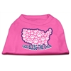 Mirage Pet Products God Bless USA Screen Print Shirts Bright Pink XXXL(20)