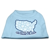 Mirage Pet Products God Bless USA Screen Print Shirts Baby Blue XXXL(20)