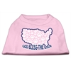 Mirage Pet Products God Bless USA Screen Print Shirts Light Pink XXXL(20)
