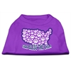 Mirage Pet Products God Bless USA Screen Print Shirts Purple XXXL(20)