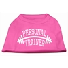 Mirage Pet Products Personal Trainer Screen Print Shirt Bright Pink XL (16)