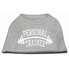 Mirage Pet Products Personal Trainer Screen Print Shirt Grey Sm (10)