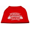 Mirage Pet Products Personal Trainer Screen Print Shirt Red 4X (22)