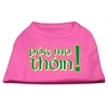 Mirage Pet Products Pog Mo Thoin Screen Print Shirt Bright Pink Med (12)