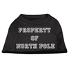 Mirage Pet Products Property of North Pole Screen Print Shirts Black XXXL (20)