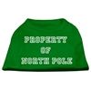 Mirage Pet Products Property of North Pole Screen Print Shirts Emerald Green Lg (14)