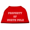 Mirage Pet Products Property of North Pole Screen Print Shirts Red XL (16)