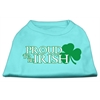 Mirage Pet Products Proud to be Irish Screen Print Shirt Aqua XS (8)