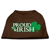 Mirage Pet Products Proud to be Irish Screen Print Shirt Brown Med (12)