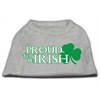 Mirage Pet Products Proud to be Irish Screen Print Shirt Grey Lg (14)