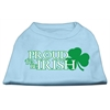Mirage Pet Products Proud to be Irish Screen Print Shirt Baby Blue Sm (10)