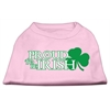 Mirage Pet Products Proud to be Irish Screen Print Shirt Light Pink  Med (12)