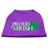 Mirage Pet Products Proud to be Irish Screen Print Shirt Purple XS (8)