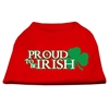 Mirage Pet Products Proud to be Irish Screen Print Shirt Red XS (8)