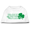 Mirage Pet Products Proud to be Irish Screen Print Shirt White  XXL (18)