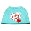 Mirage Pet Products Puppy Love Screen Print Shirt Aqua XL (16)