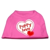 Mirage Pet Products Puppy Love Screen Print Shirt Bright Pink Lg (14)