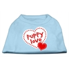 Mirage Pet Products Puppy Love Screen Print Shirt Baby Blue XXL (18)