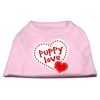 Mirage Pet Products Puppy Love Screen Print Shirt Light Pink  XL (16)