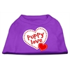 Mirage Pet Products Puppy Love Screen Print Shirt Purple XS (8)