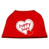 Mirage Pet Products Puppy Love Screen Print Shirt Red  XXXL (20)