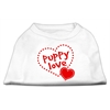 Mirage Pet Products Puppy Love Screen Print Shirt White  XXL (18)
