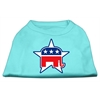 Mirage Pet Products Republican Screen Print Shirts  Aqua L (14)