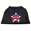 Mirage Pet Products Republican Screen Print Shirts  Black XXL (18)
