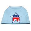 Mirage Pet Products Republican Screen Print Shirts  Baby Blue XXXL(20)