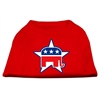 Mirage Pet Products Republican Screen Print Shirts  Red XS (8)