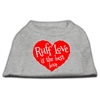 Mirage Pet Products Ruff Love Screen Print Shirt Grey XS (8)