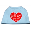 Mirage Pet Products Ruff Love Screen Print Shirt Baby Blue XXL (18)