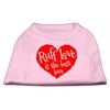 Mirage Pet Products Ruff Love Screen Print Shirt Light Pink XL (16)