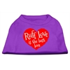 Mirage Pet Products Ruff Love Screen Print Shirt Purple XXL (18)