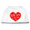 Mirage Pet Products Ruff Love Screen Print Shirt White XL (16)