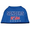 Mirage Pet Products Sanders Checkbox Election Screenprint Shirts Blue XXL (18)