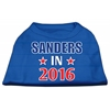Mirage Pet Products Sanders in 2016 Election Screenprint Shirts Blue XS (8)