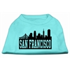 Mirage Pet Products San Francisco Skyline Screen Print Shirt Aqua Lg (14)