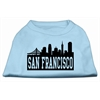 Mirage Pet Products San Francisco Skyline Screen Print Shirt Baby Blue Sm (10)