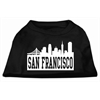 Mirage Pet Products San Francisco Skyline Screen Print Shirt Black XS (8)