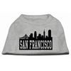 Mirage Pet Products San Francisco Skyline Screen Print Shirt Grey XS (8)